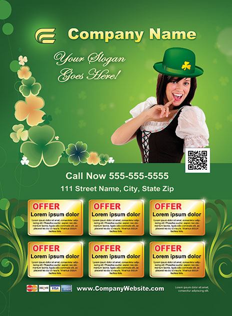 St. Patrick's Day Style Template 1303001