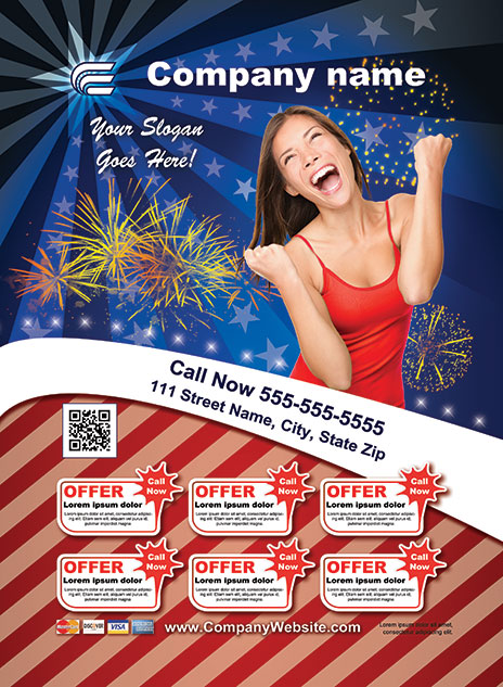 4th Of July Style Template 1306001