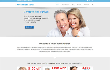 Web Design for Port Charlotte Dental