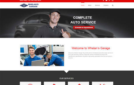 Wordpress Website Design for Whelans Garage