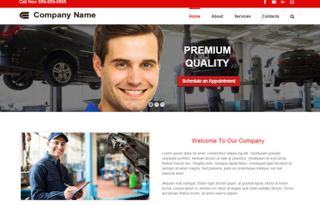 Auto Repair Shop Website for Sale