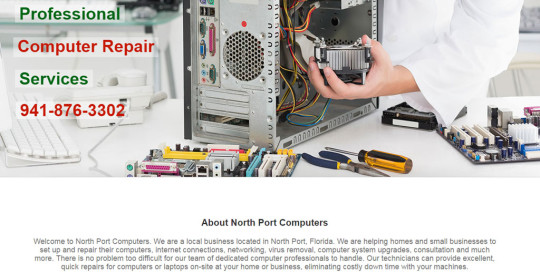 Web Design for North Port Computers